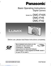 panasonic lumix dmc fh5 manuals rh manualslib com 24X Panasonic Lumix DMC Panasonic Lumix DMC- TZ10