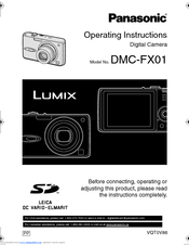 panasonic dmc fx01 s lumix digital camera manuals rh manualslib com Panasonic Manual Ra 6800 Manual Panasonic Toughbook