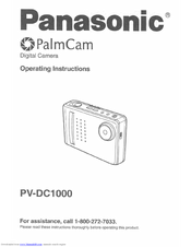 Panasonic PVDC1000 - DIGITAL CAMERA-P.CAM Operating Instructions Manual