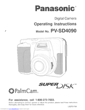 Panasonic PalmCam PV-SD4090 Operating Instructions Manual