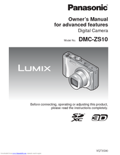 Panasonic Lumix DMC-SZ10 Owner's Manual