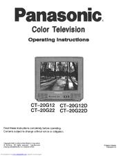 Panasonic CT20G14A— 20» COLOR TV