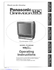 panasonic omnivision vhs pv m2046 manuals rh manualslib com Manual PV VCR Panasonic V4521 Panasonic TV Remote Control Codes