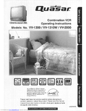 quasar vv1310w monitor vcr manuals rh manualslib com Quasar VCR Remote 1980s Quasar TV VCR Combo Manual