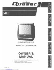 quasar vv1317w monitor vcr manuals rh manualslib com JVC VCR Quasar VCR Remote 1980s