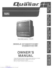 quasar vv2018w monitor vcr manuals rh manualslib com Sanyo VCR Quasar TV VCR Combo