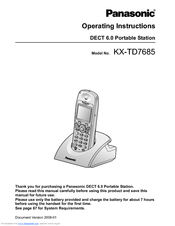 Panasonic KX-TD7695 - Wireless Digital Phone Operating Instructions Manual