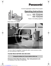 Panasonic KXTG5243 - KXTG5240M TOT 3 H/S Operating Instructions Manual