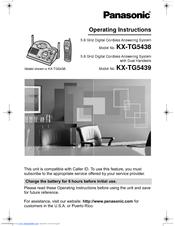 panasonic kx tg5439 manuals rh manualslib com