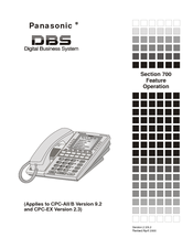 panasonic dbs section 700 manuals rh manualslib com Aston Martin DBS 1969 DBS 743E Phone