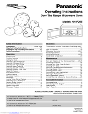 panasonic microwave defrost instructions