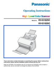 panasonic kv s1025c s manuals rh manualslib com Panasonic 1025C Scanner Drivers Panasonic Scanner 1027