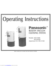 Panasonic MCH1100 - POWER HEAD VACUUM Operating Instructions Manual