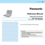 Panasonic Toughbook CF-19KHRC62M Reference Manual