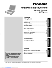 Panasonic Toughbook CF-30FTSAAAM Operating Instructions Manual