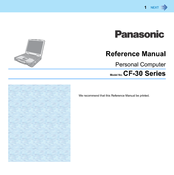 Panasonic Toughbook CF-30FASLXAM Reference Manual