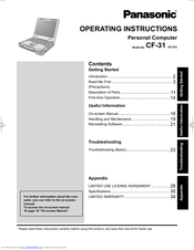 Panasonic Toughbook CF-31Q2AAA1M Operating Instructions Manual