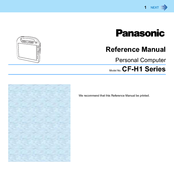 Panasonic Toughbook CF-H1CSLRG6M Reference Manual