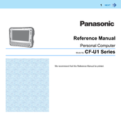 Panasonic Toughbook CF-U1AQCCG2M Reference Manual