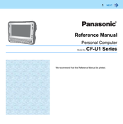 Panasonic Toughbook CF-U1AQB1Z2M Reference Manual