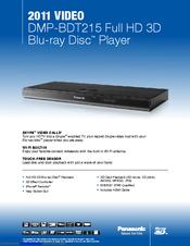 panasonic dmp bdt215 manuals rh manualslib com panasonic dmp-bdt215 manual Panasonic 210 Blu-ray Player