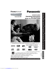 panasonic pv d4735 operating instructions manual pdf download