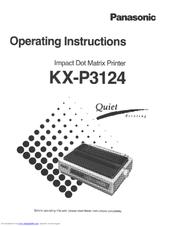 panasonic kx p3124 manuals rh manualslib com Panasonic 6.0 Cordless Phone Manual panasonic multi-mode printer kx-p3196 manual