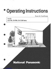 Panasonic CS-C93K Series Operating Instructions Manual