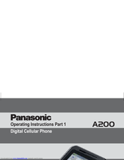 Panasonic MICRO-IMAGECHECKER A200 Series Operating Instructions Manual