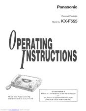 panasonic kx f500 fax machine