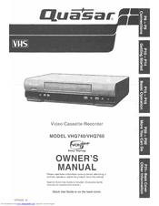 quasar vhq 760 manuals rh manualslib com Quasar VCR Camera Recorder Quasar VCR Remote 1980s