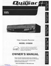 quasar vhq 830 manuals rh manualslib com Sanyo VCR Quasar VCR Camera Recorder