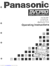 Panasonic AJLT75P - LAP TOP EDITOR Operating Instructions Manual
