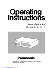 Panasonic AK-HCU931 Operating Instructions Manual