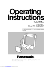 Panasonic AW-PB306 Operating Instructions Manual
