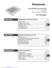 Panasonic CF-VCW281 Operating Instructions Manual