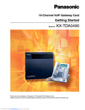 Panasonic KXTDA0490 - 16 CHNL VOIP GATEWAY CARD Getting Started