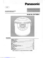 panasonic sr tmb10 manuals rh manualslib com Panasonic Remote Control Manual Panasonic Sr -Sh15ps Rice Cooker