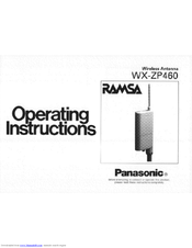 Panasonic Ramsa WX-ZP460 Operating Instructions Manual
