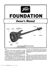 Peavey Foundation S Active User Manual