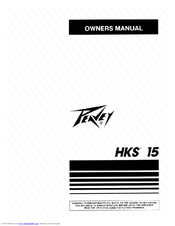 Peavey Lo Max 15 User Manual