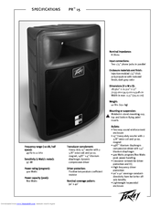 Peavey Lo Max 15 Specifications