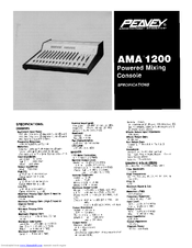 Peavey AMA 1200 Specifications