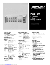 Peavey PZS 80 Specifications