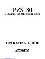 Peavey PZS 80 User Manual