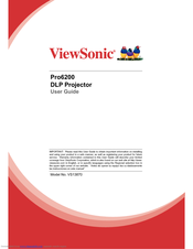 Viewsonic Pro6200 User Manual