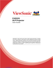 Viewsonic PJD5353 User Manual