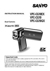sanyo xacti vpc cg10 manuals rh manualslib com Sanyo Xacti CG10 Manual sanyo vpc-e2100 instruction manual