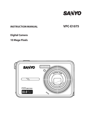 Sanyo E1075 - VPC Digital Camera Instruction Manual