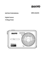 sanyo e1075 vpc digital camera manuals rh manualslib com Sanyo 5X Camera User Manual Sanyo Online Manuals